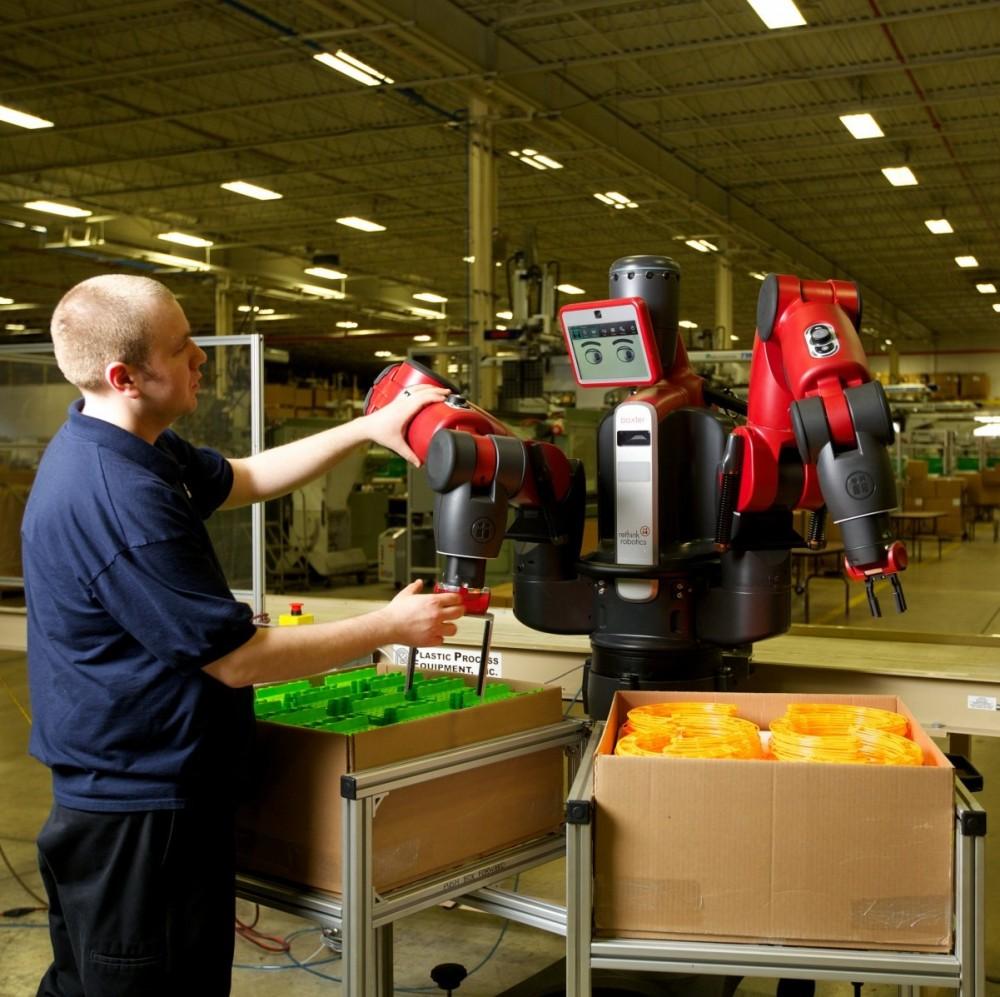 Baxter Robot packing boxes