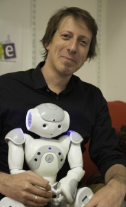 Prof Tony Belpaeme and NAO