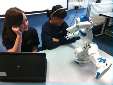 etone school girls running their programme on nao
