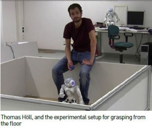 Thomas Höll with Nao in his room