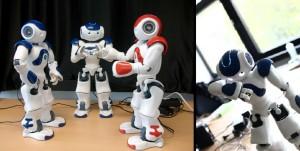 Nao robots Nori, Nali and Nyr