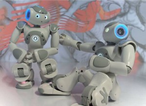 Nao robots interacting