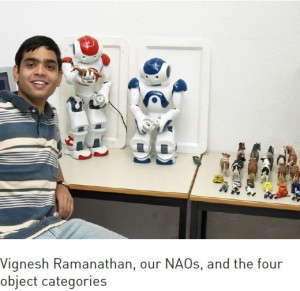 Vignesh Ramanathan with Nao Robots