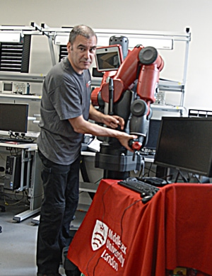 Nick setting up Baxter Robot