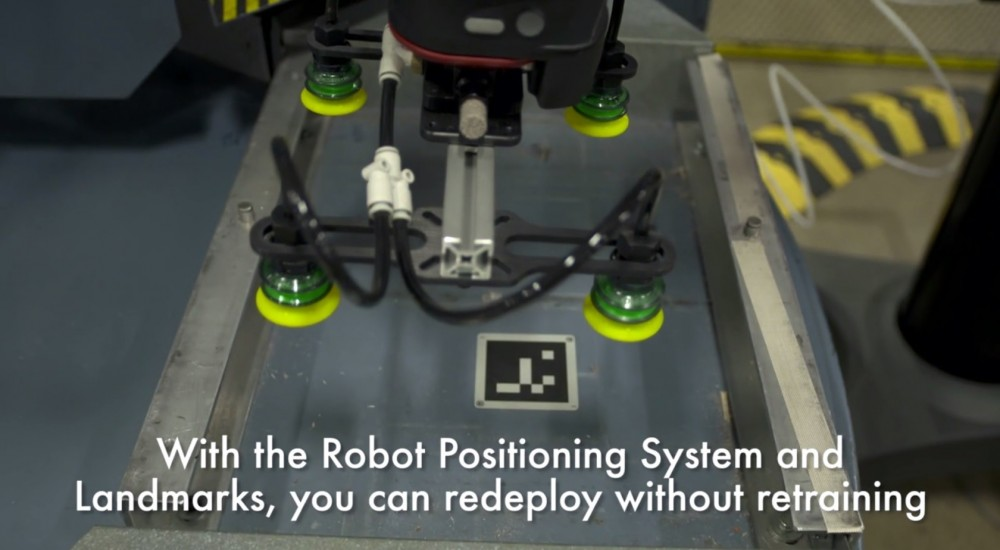 baxter robot recognising landmark image on a conveyor